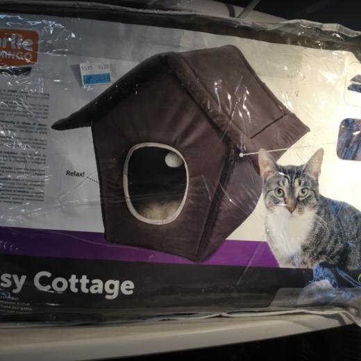 Maison pliante pour chats